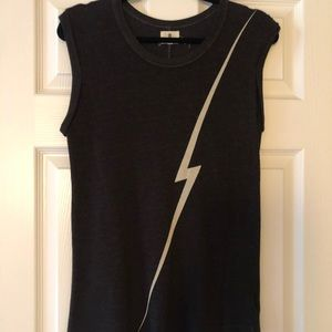 Lightening Bolt Sweater Sleeveless T Shirt